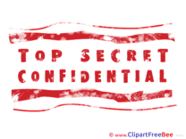 Red Top Secret free Cliparts Stamp
