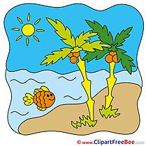 Beach Palms free Illustration Summer