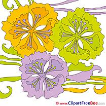 Clip Art Flowers download Summer