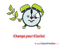 Clock free Illustration Summer