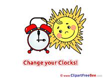 Clock Sun free Cliparts Summer