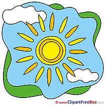 Clouds Sun Summer download Illustration