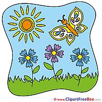 Flower Sun Summer Clip Art for free