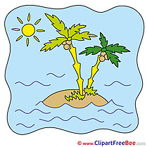 Island Palms Summer Illustrations for free
