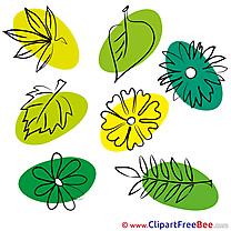 Leaves download Summer Illustrations
