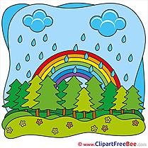 Park Rainbow Clipart Summer Illustrations