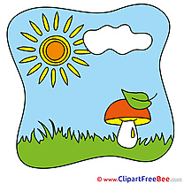 Printable Mushroom Sun Summer Images