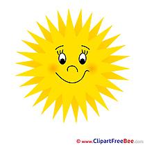 Printable Sun Illustrations Summer
