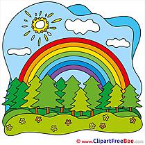 Rainbow free Cliparts Summer