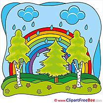 Rainbow Sky Pics Summer Illustration