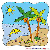 Sea Palms Summer Illustrations for free