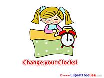 Sleeping Clock Summer free Images download