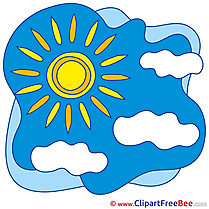 Summer Sun Clouds Clip Art for free
