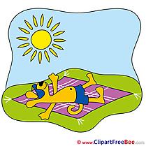 Sunbathe Cliparts Summer for free