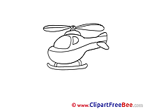 Coloring Helicopter free printable Cliparts and Images