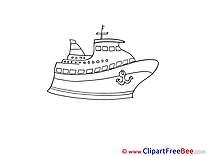 Coloring Ship download Clip Art for free