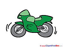 Motocycle Clipart free Illustrations