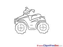 Quad download printable Illustrations