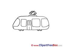 Tram download printable Illustrations