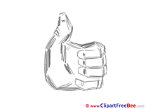 Fingers Clipart Thumbs up free Images