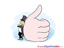 Hand free Cliparts Thumbs up