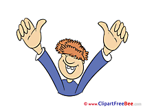 Man download Thumbs up Illustrations