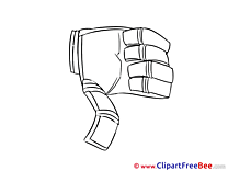 Palm Cliparts Thumbs up for free