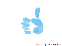 Palm Thumbs up Clip Art for free