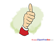 Thumbs up Clip Art for free