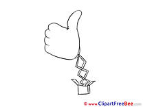 Toy Pics Thumbs up free Cliparts