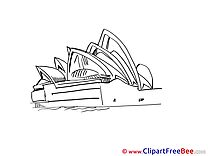Coloring Opera Sydney printable Images for download