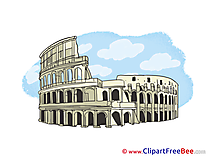 Colosseum Rome Clipart free Image download