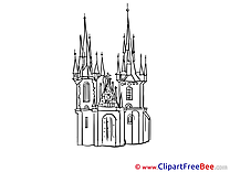 Gothic Cathedral Clipart free Illustrations