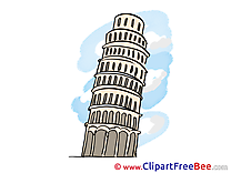 Leaning Tower Pisa Pics printable Cliparts