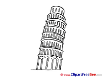 Pisa Leaning Tower Clip Art download for free