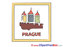 Prague Szech Republic printable Illustrations for free