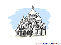 Sacre Coeur Basilica Paris Clipart free Illustrations