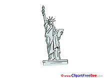 Statue of Liberty New York free Cliparts for download