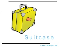 Suitcase Clipart Image free - Travel Clipart free