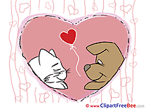 Animals Cliparts Valentine's Day for free