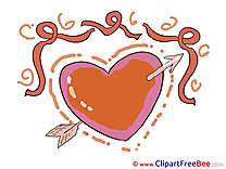 Arrow Ribbon Heart Clipart Valentine's Day free Images