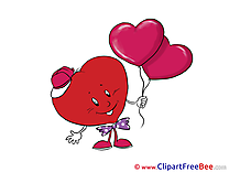Balloons Heart download Valentine's Day Illustrations