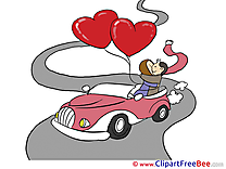 Car Balloons Love free Cliparts Valentine's Day
