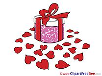 Gift Hearts Pics Valentine's Day Illustration