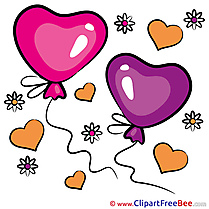 Image Balloons Clipart Valentine's Day free Images