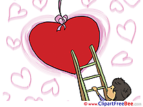Ladder Heart Valentine's Day Illustrations for free