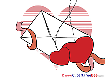 Letter Heart Cliparts Valentine's Day for free