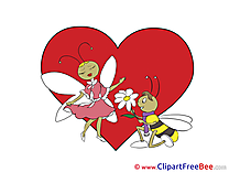 Love Bees Valentine's Day free Images download