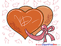 Ribbon Hearts Valentine's Day free Images download