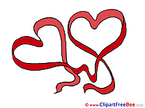 Ribbons Hearts Valentine's Day free Images download